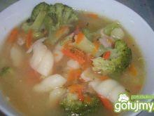 Zupa brokułowo - jarzynowa z muszelkami