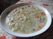 Zupa brokułowo-porowa z ryżem