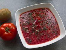 Zupa buraczkowa z papryką i porem