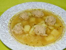 Zupa cebulowo ziemniaczana z pulpetami
