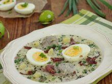 Zupa chrzanowa z jajem