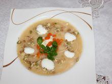 Zupa chrzanowa z kiełkami