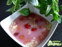 Zupa czereśniowa z kaszą jaglaną