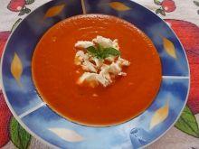 Zupa czerwony miszmasz z fetą