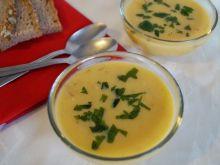 Zupa dyniowa z imbirem i boczkiem