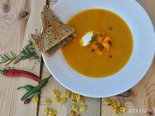 Zupa dyniowa z serkiem