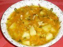 Zupa dyniowa z ziemniakami i natką