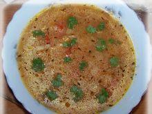 Zupa dyniowo paprykowa z płatkami ryżowymi