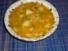 Zupa fasolowa z dynią