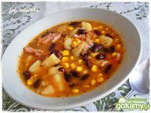 Zupa fasolowo kukurydziana na wędzonce