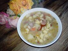 Zupa fasolowo-zacierkowa na rosole