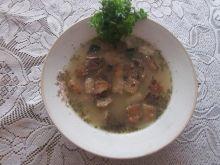 Zupa grochowa na boczku