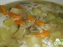 Zupa grzybowa z cebulką i warzywami