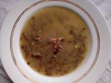 Zupa grzybowa z kurkami i kaszą