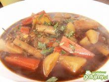 Zupa grzybowa z soczewicą
