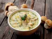 Zupa grzybowa z ziemniakami i koperkiem