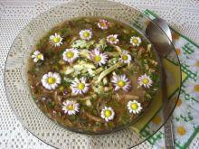 Zupa grzybowa ze stokrotkami