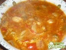 Zupa gulaszowa z makaronem i papryką