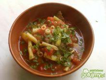 Zupa gulaszowo-pomidorowa z woka