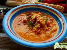 Zupa jaglana z kiełbasą