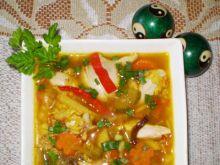Zupa jarzynowa z brązowym ryżem i smakie