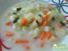 Zupa jarzynowa z cukinią i ogórkiem