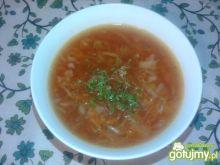 Zupa jarzynowa z duszonym selerem
