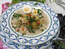 Zupa jarzynowa z jajkiem i kalerosse