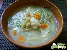 Zupa jarzynowa z kalafiorem i fasolką