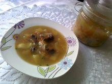 Zupa jarzynowa z kaszą manną i grzybami