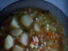 Zupa jarzynowa z zacierką i ziemniakami