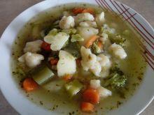 Zupa jarzynowo-brokułowa z zacierkami
