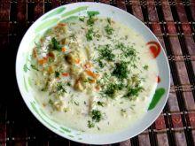 Zupa kalafiorowa bardzo kluseczkowa - Zupa kalafiorowa  baaaardzo  kluseczkowa
