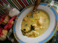 Zupa kalafiorowa z kaszą manna