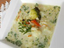 Zupa kalafiorowo-brokułowa z ryżem