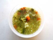 Zupa kalafiorowo brokułowa z ziemniakami