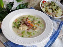 Zupa klopsowa z boczkiem