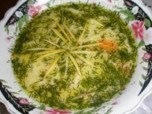 zupa koperkowa ze skórką cytrynowa.