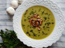 Zupa krem brokułowo-cukiniowa z pieczarkami