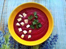 Zupa krem buraczkowo - malinowa