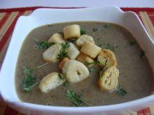 Zupa krem grzybowa z mini grzankami