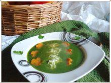 Zupa krem szpinakowo-fasolkowy z ryżem