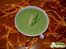Zupa krem szpinakowo - szparagowa