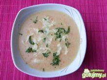 Zupa krem warzywna z lanymi kluseczkami