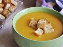 Zupa krem z batatów z grzankami