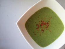Zupa krem z brokułów z boczkiem