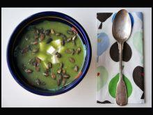 Zupa krem z brokułów z serem feta i pestkami dyni