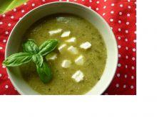 Zupa krem z cukinii i papryki z serem feta