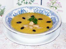 Zupa krem z dyni i białej fasoli