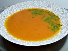 Zupa krem z dyni i czerwonej kapusty